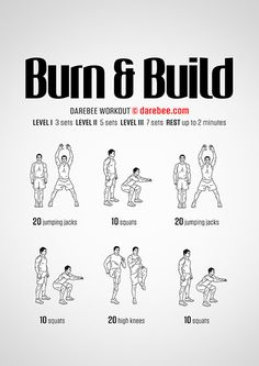 Burn and Build is a Level II workout that helps maintain your fitness level on those slow days. Neila Rey Workout, Kickboxing Workout, Calisthenics Workout, Gym Workouts, At Home Workouts, Darbee Workout, Tabata, Studio Workouts, Sandbag Workout