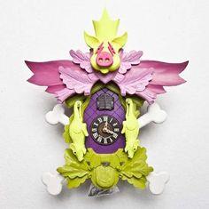 modern twist on the cuckoo clock, by stefan strumble