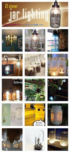nostalgiecat: 21 clever jar lighting ideas