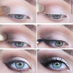 Here's how to perfect the look in 6 simple steps 1. Start by applying our Base eye shadow over the entire eyelid 2. Apply a light application of Matte Topaz eye shadow in the crease of your eyelid in the shape of a C 3. In the crease, apply Golden Topaz eye shadow to add a slight shimmer 4. Using our angle brush, apply Onyx Chubbi eye liner to the outer corner of the lid 5. Repeat step 4 on the lower lash line 6. Apply Eyelash Primer and Mascara to top and bottom lashes