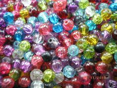 Glass Crackle Beads 4mm, 6mm, 8mm and10mm -Choose your Colour, Size & Quantity!  | eBay