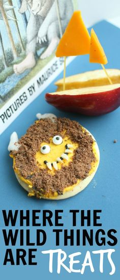 Yummy treats inspired by the book Where the Wild Things Are by Maurice Sendak!  Such a fun activity to do after reading the book together!