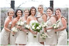 www.weddingrowcalifornia.com | Allyson Wiley Photography | Cream Bridesmaid Dresses