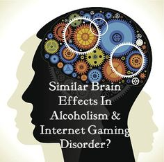 Are there similar brain effects in people who have alcoholism and those who have internet gaming disorder?