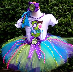 Fancy Monsters Inc. BOO Birthday Tutu Set...This set can be made with on BOO on the Top...by PoshPinkTutus, Etsy