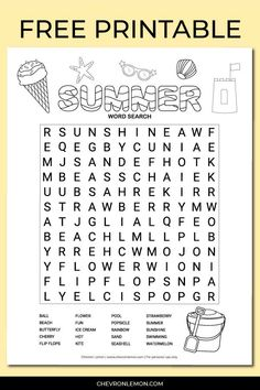 Word Puzzles For Kids, Free Word Search Puzzles, Free Printable Word Searches, Fun Worksheets For Kids, Easy Word Search, Kids Word Search, Summer Camp Activities, Fun Activities For Kids, Travel Activities