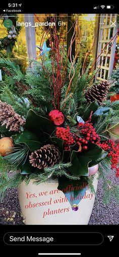Winter Porch Decorations, Holiday Decor, Porch Decorating, Christmas Wreaths, Planters, Messages, Garden, Home Decor, Balcony Decoration