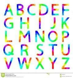 Letras Del Arco Iris Del Alfabeto, Ejemplo Del Vector - Descarga De Over 51 Millones de fotos de alta calidad e imágenes Vectores% ee%. Inscríbete GRATIS hoy. Imagen: 70403751