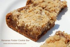 Bananas Foster Cookie Bars