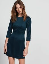 Dress With Topstitched Details - Dresses - Sandro-paris.com