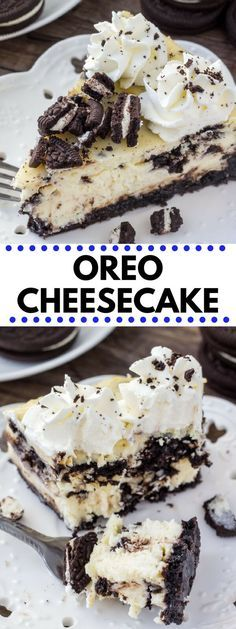 If you're looking for the perfect Oreo cheesecake recipe - then look no further. With a crunchy Oreo cookie crust, smooth and creamy cheesecake, and tons of Oreo pieces - this cheesecake is an Oreo lover's dream come true. #oreo #cheesecake #recipes #oreocheesecake