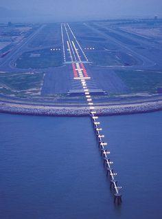 Hong Kong airport strip