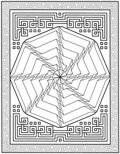Mandala 656, Creative Haven Modern Mandalas Coloring Book, Dover Publications
