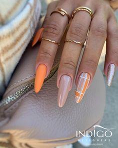 Girls Nail Designs, Toe Nail Designs, Acrylic Nail Designs, Classy Nails, Stylish Nails, Glow Nails, Indigo Nails, Seasonal Nails, Spring Nail Art