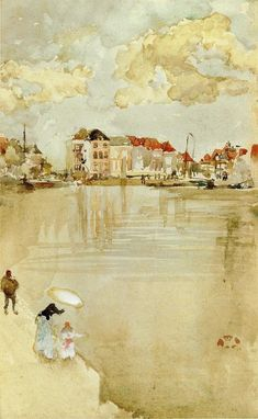 Note in Gold and Silver - Dordrecht - Whistler James McNeill – wikiart.org