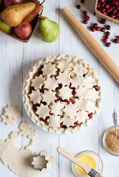 Gluten Free Cranberry Pear Pie