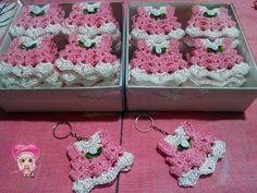 Passo a Passo Lembrancinha de Crochê Vestidinho por JNY Crochê - YouTube