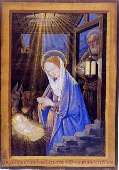 Jean Bourdichon, 'Nativity', illumination from a book of hours, 1498/9.