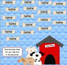 SMARTBoard Dog Attendance product from 1-2-3-Interactive-Classro on TeachersNotebook.com