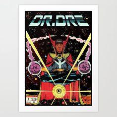 Dre Music Hip Hop Rappers Unframed Art Print/Poster x Arte Hip Hop, Hip Hop Art, Shetland, Framed Art Prints, Poster Prints, Rapper Art, Hip Hop And R&b, American Art, Comic Art