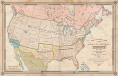 The source of this map comes from a successful Civil War, in which the Confederates rise to equal power with their former brethren. Here we see the Confederate States of America during a time of re...