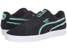 596cc5af991 PUMA Suede Classic X Hollows (Puma Black/Biscay Green) Men's Shoes. PUMA