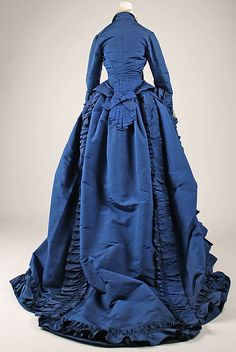 dresses from 1870 | Dress, ca. 1870, French Look at the train! Wow.