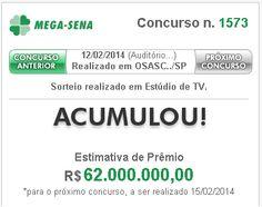 Mega-Sena pode pagar R$ 62 milhões no sorteio deste Sábado 15/02 ~ Caixa Loterias - Palpites e Dicas Grátis Lotofácil