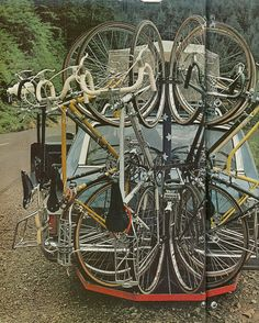 Seems like a lot of bikes for one guy on the road, but hey, do what you gotta do.