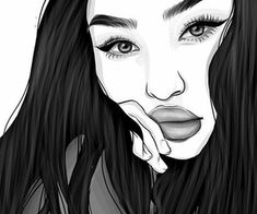Hipster drawings black and white. Tumblr Hipster, Tumblr Girls, Outline Art, Outline Drawings, Easy Drawings, Tumblr Girl Drawing, Girl Drawing Easy, Girl Tumbler, Hipster Drawings
