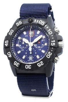 Luminox Navy Seal Chronograph Quartz Mens Watch - Ideas of Luminox Swiss Watches For Men, Us Navy Seals, Casio Edifice, Leather Watch Box, 200m, Waterproof Watch, Jewellery Storage, Black Rubber, Glass Jewelry