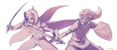 LOZ Skyward Sword: Link VS Ghirahim by *moxie2D on deviantART