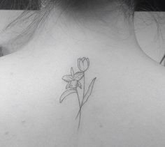 Tattoo by brusimoes. Orchid and tulips
