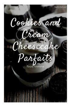 Cookies and Cream Cheesecake Parfaits Healthy Meals For One, Healthy Recipes On A Budget, Healthy Breakfast Recipes, Snack Recipes, Chocolate Chip Recipes, Chocolate Chips, Cookies And Cream Cheesecake, Instant Recipes, Food Processor Recipes