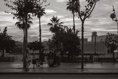 El cielo nunca cambia  #barcelona #blackandwhite #street #streetphotography #people #couple #sky #clouds #trees