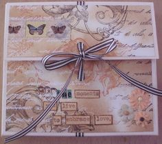 chocolate box made with rubber stamps and mixed media by Lillibelle
