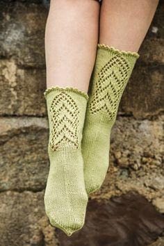 Socks knitted in Cashsoft 4 ply from Rowan