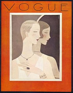 Benito, Vogue cover, 1926, Scanned from Bronwen Merediths Vogue Body and Beauty Book1977.