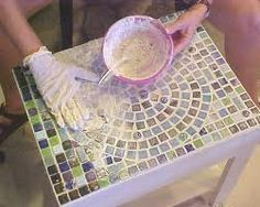 mosaic table how to