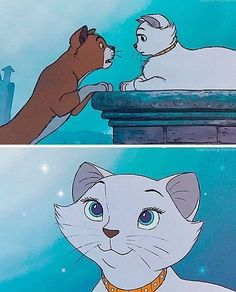 """Thomas O'Malley and Duchess from """"The Aristocats""""You can find The aristocats and more on our website.Thomas O'Malley and Duchess from """"The Aristocats"""" Disney Pixar, Walt Disney, Disney Films, Disney Cartoons, Disney Magic, Disney Art, Disney And Dreamworks, Disney Songs, Disney Quotes"""