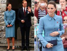 Catherine, Duchess of Cambridge In Alexander McQueen – Blenheim War Memorial