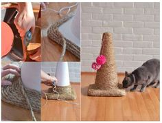 18 super jouets DIY pour chats et chiens - Guide Astuces You are in the right place about funny Cat Kitten Toys, Cat Toys, F2 Savannah Cat, Homemade Toys, Cat Accessories, Scratching Post, Litter Box, Diy Stuffed Animals, Pet Gifts