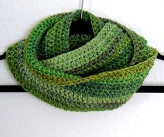 Crochet Infinity Scarf Cowl Shades of Spring by SimplyStitcheduk