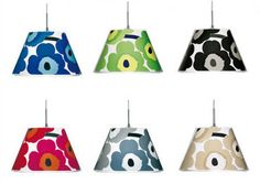 Want a classic Marimekko design hanging from the ceiling? You can if you invest in the Le Klint Marimekko Unikko light fitting.