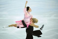 US Meryl Davis and US Charlie White perform in the Figure Skating Ice Dance Short Dance at the Iceberg Skating Palace during the Sochi Winter Olympics on February.