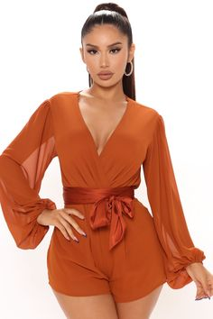 Rompers Women, Jumpsuits For Women, Curve Dresses, Women's Dresses, Rompers Dressy, Kylie Jenner Outfits, Swimsuits For Curves, Curves Clothing, Long Sleeve Romper