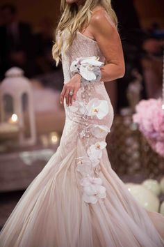 Orchid Bridal Cuff Photography: Christine Bentley Photography Read More: http://www.insideweddings.com/weddings/tamra-barney-and-edward-judge/471/