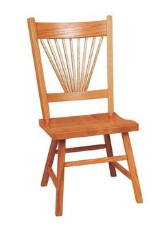 Amish Fantail Mission Dining Room Chair Pretty and perfect in solid wood. Amish made in Ohio. Choose a regular scooped seat or a deeper profile scoop. #DutchCrafters
