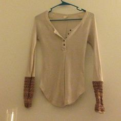 Free People Alpine Cuff Thermal In Light Pink NWOT Free People Tops