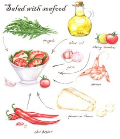 Salad Illustrations on Behance